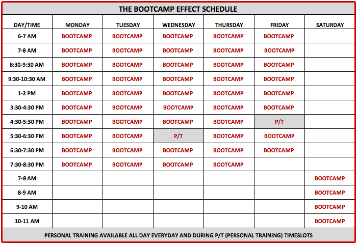 bootcamp effect langley session schedule