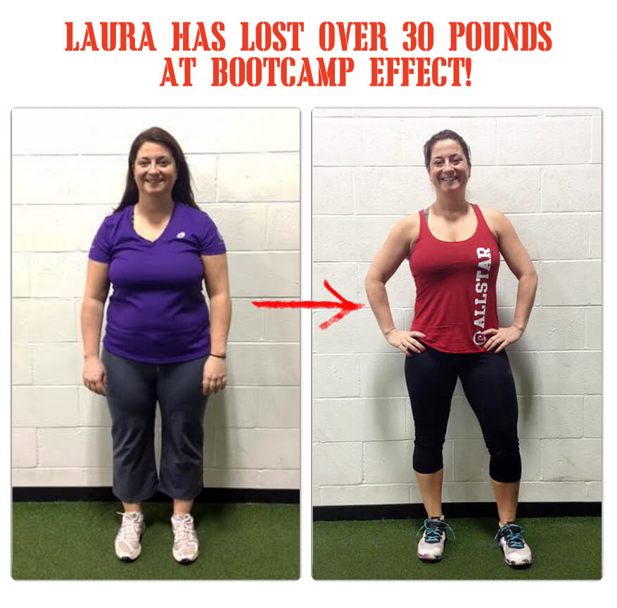 The Bootcamp Effect in Langley has helped Laura lose over 30 pounds in 12 weeks!
