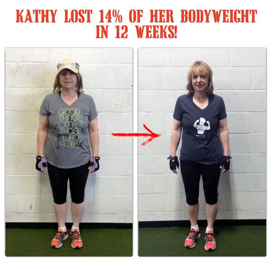 Kathy lost 14% of her bodyweight in 12 weeks at The Bootcamp Effect in Langley!