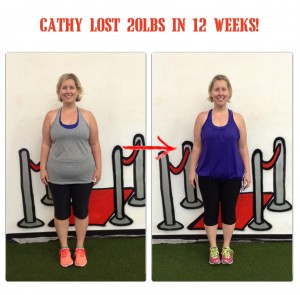 Cathy before and after