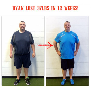 ryan lost 37lbs in 12 weeks