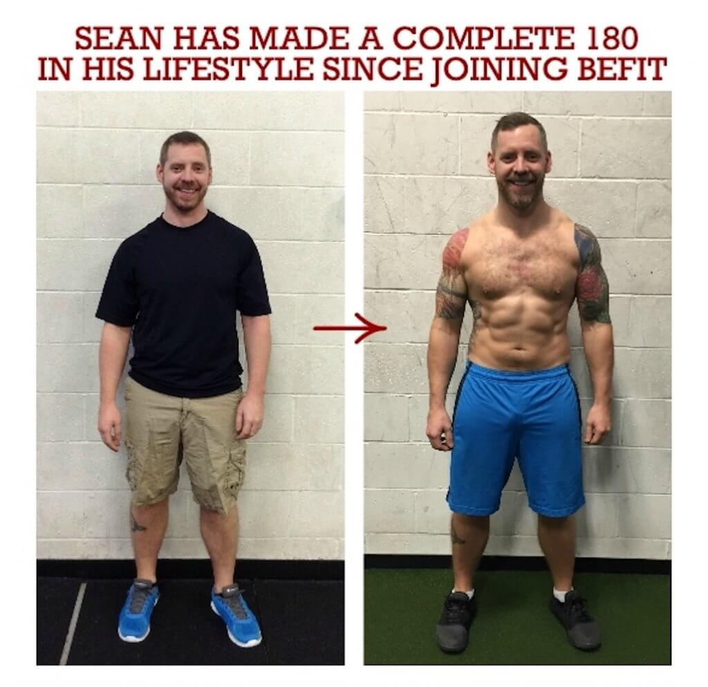 sean's muscle results at befit gym
