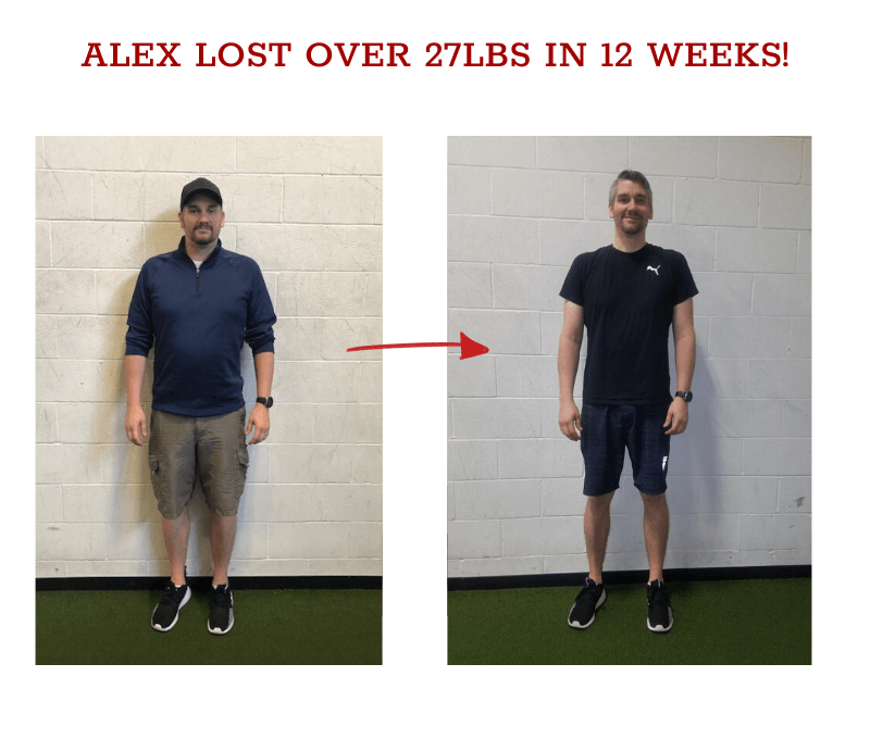 alex before and after weight loss