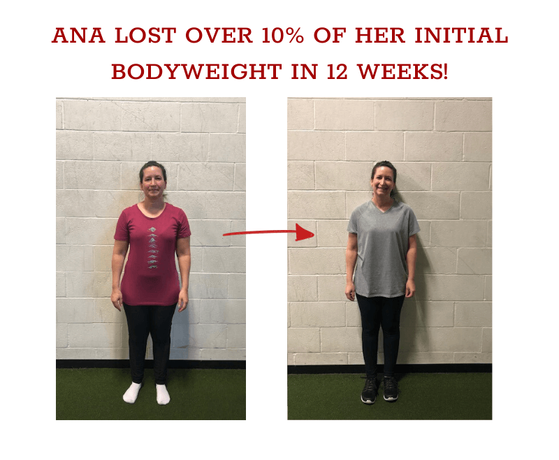 ana before and after weight loss in 12 weeks