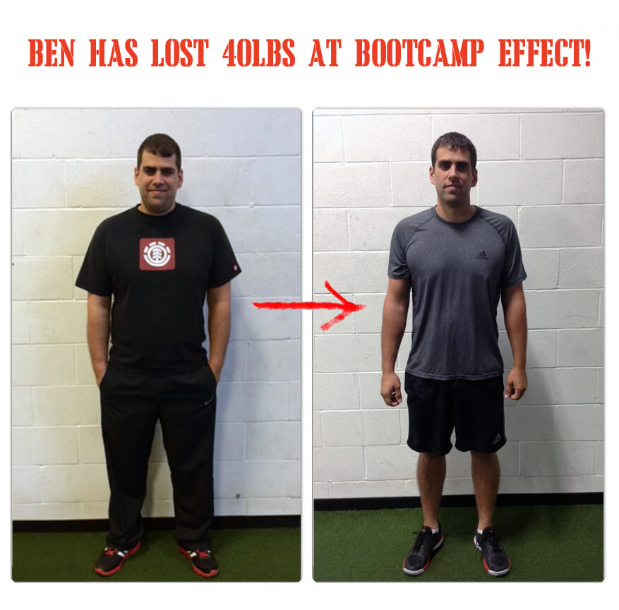 Ben has lost 40 pounds at The Bootcamp Effect in Langley