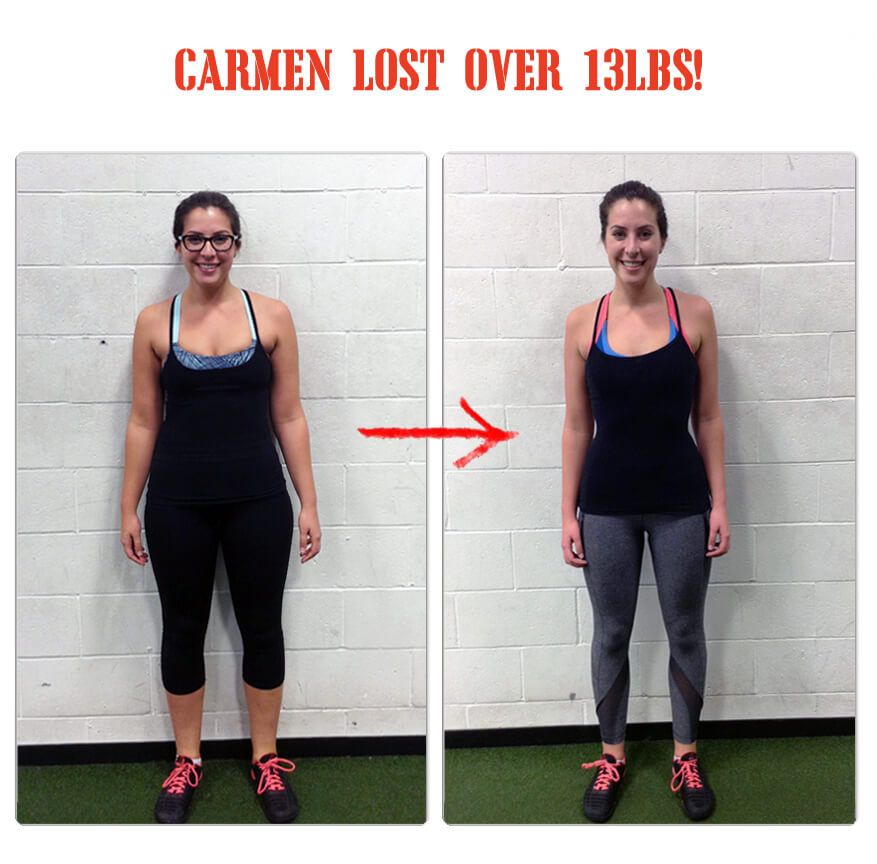 Carmen lost over 13lbs in 12 weeks at The Bootcamp Effect in Langley!