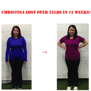 personal trainer, christina before and after