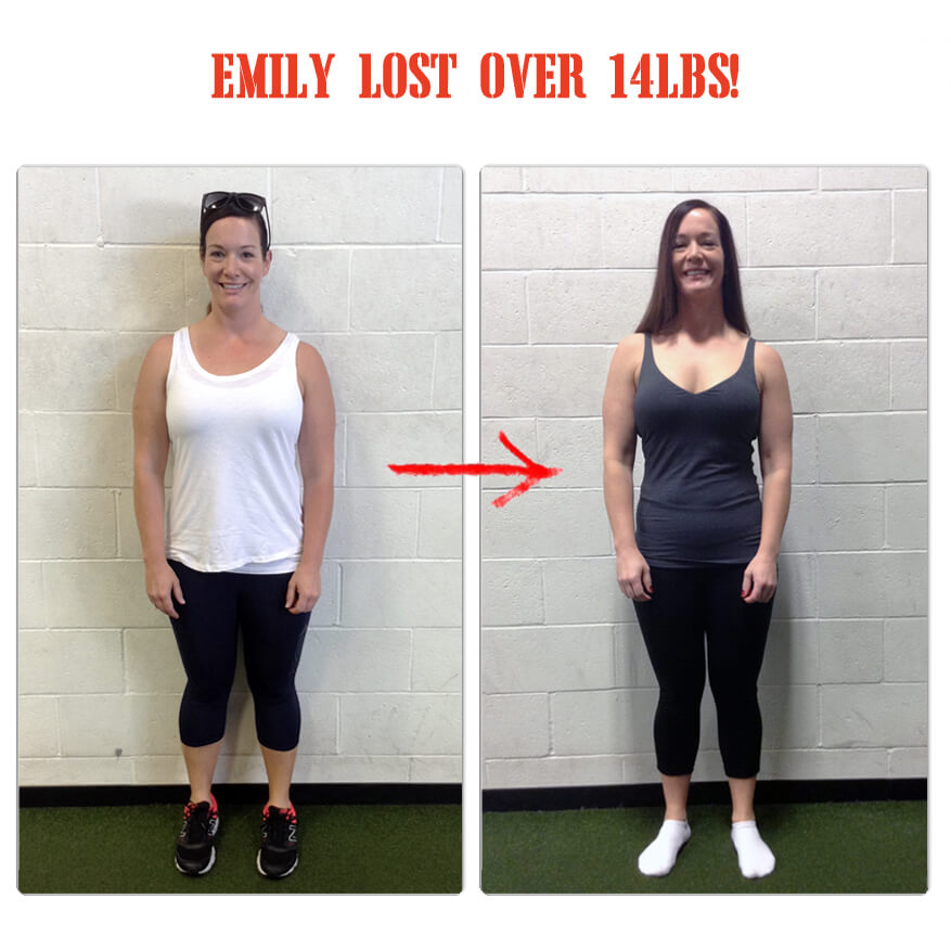Emily lost over 14lbs in 12 weeks at The Bootcamp Effect fitness gym in Langley!
