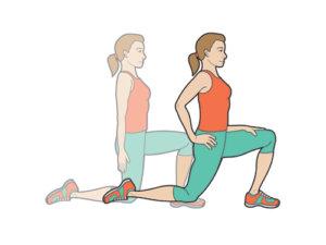 hip flexor stretch, bootcamp