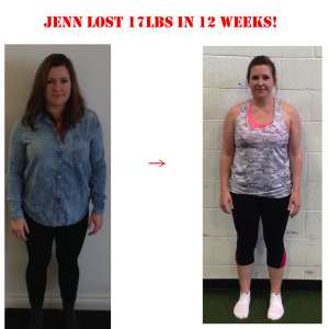 jenn before and after, 12 weeks