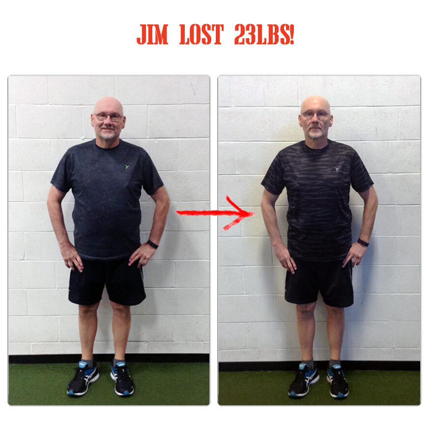 Jim lost 23lbs in 12 weeks at The Bootcamp Effect fitness gym in Langley!