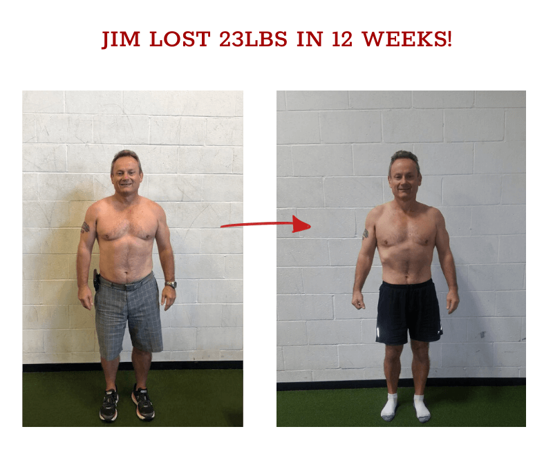 jim before and after weight loss
