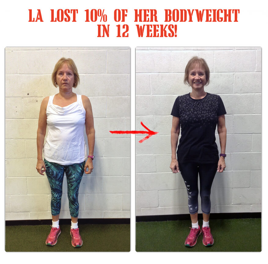 Linda-Ann lost 10% of her bodyweight in 12 weeks at The Bootcamp Effect fitness gym in Langley!