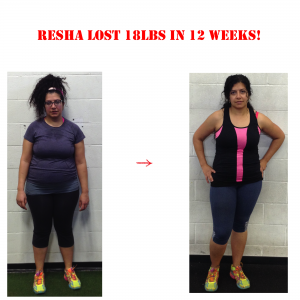 personal trainer in langley, resha before and after