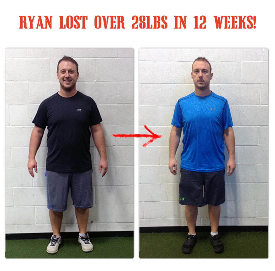 Ryan lost over 28lbs in 12 weeks at The Bootcamp Effect fitness gym in Langley!