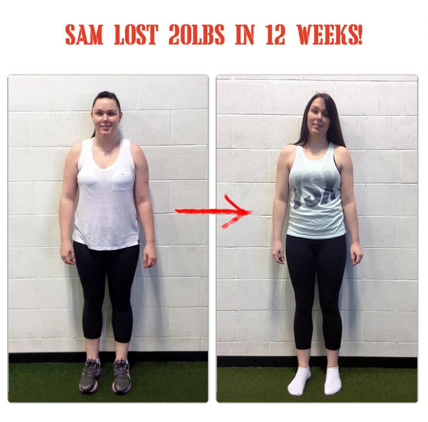 Sam lost 20lbs in 12 weeks at The Bootcamp Effect fitness gym in Langley!