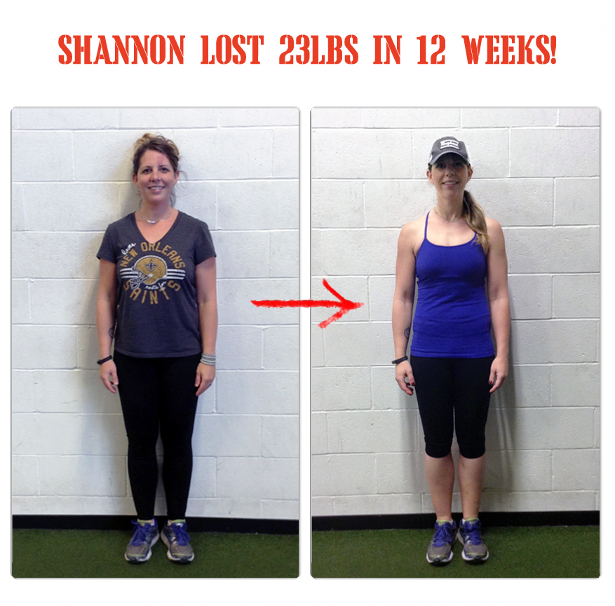 Shannon lost 23lbs in 12 weeks at The Bootcamp Effect fitness gym in Langley!