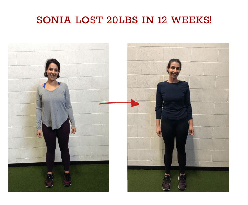 sonia weight loss 12 weeks